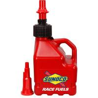 Tools & Pit Equipment - Sunoco Race Jugs - Sunoco 3 Gallon Utility w/ FastFlo Lid & Vehicle Tank Adaptor - Red