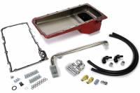 Hamburger's Performance Products - Hamburger's Performance 67-69 Camaro Pan LS Swap Oil Pan/Filter Kit - Red
