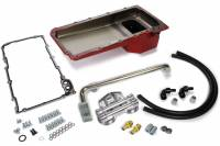Engine Components - Hamburger's Performance Products - Hamburger's Performance 67-69 Camaro Red Pan LS Swap Oil Pan/Filter Kit - Red