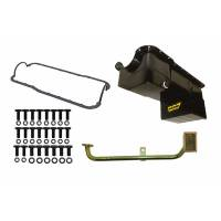 Engine Components - Weiand - Weiand 7 Quart Oil Pan Kit RR Sump SB Ford 302 79-93 Black