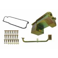 Engine Components - Weiand - Weiand 7 Quart Oil Pan Kit RR Sump SB Ford 302 79-93 Zinc