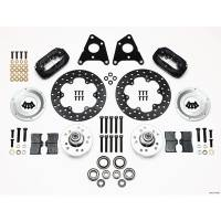 """Front Brake Kits - Drag - Wilwood Forged Dynalite Big Brake Front Hub Kits - Wilwood Engineering - Wilwood Drag Front MD A Body 10"""" Drum 65-72 Drilled"""