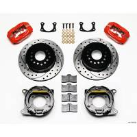Rear Brake Kits - Street / Truck - Wilwood Forged Dynalite Rear Parking Brake Kits - Wilwood Engineering - Wilwood Big Ford New Style 2.50 Offset Drilled / Red