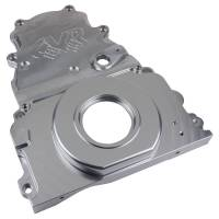 Engine Components - CVR Performance Products - CVR Performance Products Timing Cover - 2 Piece - Cam Sensor - Clear Anodized - GM LS-Series