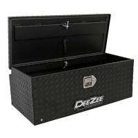 "Truck Bed Accessories and Components - Truck Bed Toolboxes - Dee Zee - Dee Zee Aluminum Diamond Plate Toolbox - 36 x 17 x 13"" - Black Powder Coat - Rear Mount - Jeep Wrangler JK / JL 2007-19"