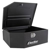 "Storage/Organizers - NEW - Tool Boxes - NEW - Dee Zee - Dee Zee Aluminum Diamond Plate Toolbox - 37 x 31 x 13"" - Black Powder Coat - Rear Mount - Jeep Wrangler JK / JL 2007-19"