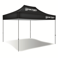Factory Canopies - Factory Canopies Pro Grade Canopy Top - 10 x 15 Ft. - Fire / Water Resistant Fabric - Black
