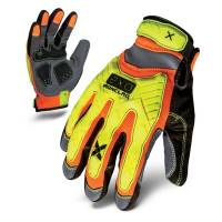 Tools & Pit Equipment - Tools - Clearance - Ironclad Performance Wear - Ironclad Wear EXO Hi-Viz Impact Gloves - Reinforced Palm - Nylon - Yellow / Orange - Small