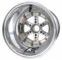 "Keizer Wheels - Keizer Micro Sprint Splined Wheels - Keizer Aluminum Wheels - Keizer Micro / Mini Sprint 27 Spline Wheel - 10 x 10"" - 4.000"" Back Spacing - Polished"