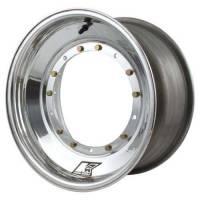 "Sprint Car & Open Wheel - Keizer Aluminum Wheels - Keizer Micro / Mini Sprint Direct Mount Wheel - 10 x 7"" - 3.000"" Back Spacing - Polished"
