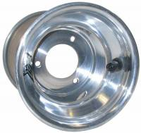 "Keizer Aluminum Wheels - Keizer KW2 Aluminum Quarter Midget / Karting Wheel - 6 x 6"" - 4.000"" Back Spacing - Polished"