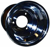"Wheels and Tire Accessories - Keizer Aluminum Wheels - Keizer KW2 Aluminum Quarter Midget / Karting Wheel - 6 x 6"" - 4.000"" BS - Black Powder Coat"