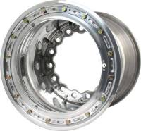 "Keizer Aluminum Wheels - Keizer Matrix Modular Aluminum Wide 5 Beadlock Wheel w/ Mud Cover- 15 x 14"" - 5"" Back Spacing - Polished"