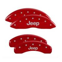 MGP Caliper Covers - MGP Caliper Covers Jeep Script Logo - Aluminum - Red - Jeep Grand Cherokee 2011-18 (Set of 4)