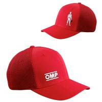 Crew Apparel & Collectibles - Hats - OMP Racing - OMP OMP Logo Hat - Fitted - Small / Medium - Red
