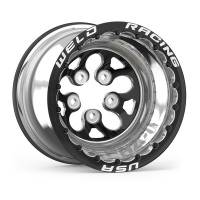 "Wheels and Tire Accessories - Weld Racing - Weld Alpha-1 Wheel - 15 x 10"" - 5.000"" BS - 5 x 4.50"" - Beadlock - Black Anodized"