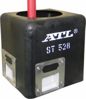 "Air & Fuel System - ATL Racing Fuel Cells - ATL 3-Door Molded Surge Tank - .6 Gallons - 5"" x 5"" x 6"" - Road Racing / Rally / Off-Road - #6 AN ScavenJet & Hose"