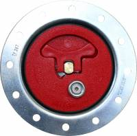 "Fuel Cells, Tanks and Components - Fuel Cell Filler Caps - ATL Racing Fuel Cells - ATL Flush Mount Aircraft Type Cap - Poly - 3.0"" Opening - 4-3/4"" Bolt Circle"