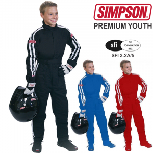 Racing Suits - Youth Racing Suits - Simpson Premium Youth STD.19 Driving Suit - $299.95