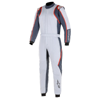 Alpinestars Racing Suits - Alpinestars GP Race v2 Suit - $699.95 - NEW! - Alpinestars - Alpinestars GP Race V2 Suit - Silver/Asphalt/Red - PRE-ORDER