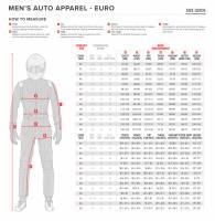 Alpinestars Suit Sizing Chart