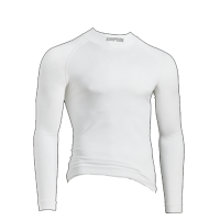 Underwear - Simpson Underwear - Simpson Race Products - Simpson Pro-Fit Base Layer Top - Long Sleeve - White