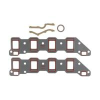 """Intake Manifold Gaskets - Intake Manifold Gaskets - SB Chevy - Clevite Engine Parts - Clevite Intake Manifold Gasket Set - 1.600 x 2.900"""" Rectangular Port - SB Chevy"""