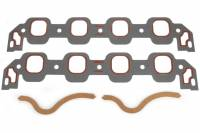 """Intake Manifold Gaskets - Intake Manifold Gaskets - BB Ford / FE - Clevite Engine Parts - Clevite Intake Manifold Gasket Set - 1.800 x 1.950"""" Oval Port - BB Ford"""