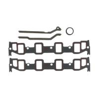 """Intake Manifold Gaskets - Intake Manifold Gaskets - BB Ford / FE - Clevite Engine Parts - Clevite Intake Manifold Gasket Set - 1.400 x 2.100"""" Rectangular Port - Ford FE-Series"""