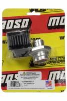 Moroso - Moroso Breather - Screw-In - Round - GM LS Single Tab - Clamp-On Filter - Moroso Logo