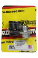 Moroso - Moroso Breather - Screw-In - Round - GM LS Double Tab - Clamp-On Filter - Moroso Logo