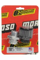 Moroso - Moroso Breather - Screw-In - Round - GM LS Double Tab - Clamp-On Filter