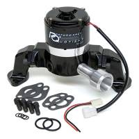 "Cooling & Heating - PRW Industries - PRW Industries Electric Water Pump - High Flow - 3/4"" NPT inlet - 7.000"" Height - Black - BB Chevy"