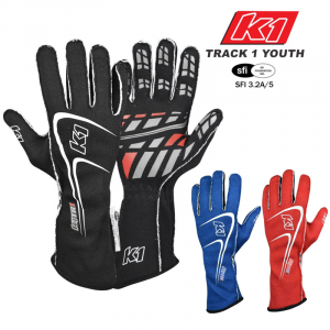 Racing Gloves - Shop All Auto Racing Gloves - K1 RaceGear Track 1 Youth Gloves - $79