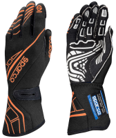 LABOR DAY SALE! - Racing Glove Sale - Sparco - Sparco Lap RG-5 Racing Gloves - Black/Orange - Large / Euro 11