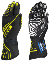 LABOR DAY SALE! - Racing Glove Sale - Sparco - Sparco Lap RG-5 Racing Gloves - Black/Yellow - Medium / Euro 10