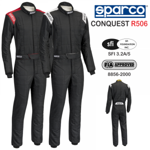 Racing Suits - Sparco Racing Suits - Sparco Conquest R506 Boot Cut Racing Suit - CLEARANCE $299.88