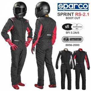 Racing Suits - Sparco Racing Suits - Sparco Sprint RS-2.1 Boot Cut Suit - CLEARANCE $449.88