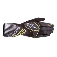 Alpinestars - Alpinestars Tech-K Race S v2 Carbon Youth Karting Glove - Black/Turquoise - Size Youth L