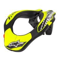 Karting Gear - Karting Neck Braces - Alpinestars - Alpinestars Youth Neck Support - Black/Yellow Fluo - Size OS