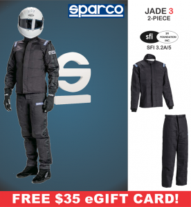 Racing Suits - Sparco Racing Suits - Sparco Jade 3 Suit - 2 Piece Design - $359.98
