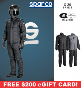 Racing Suits - Sparco Racing Suits - Sparco X-20 2-Piece Drag Racing Suit - $1994.99