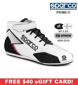 Racing Shoes - Sparco Racing Shoes - Sparco Prime-R Shoe - $398.99
