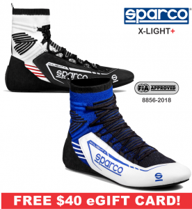 Racing Shoes - Sparco Racing Shoes - Sparco X-Light+ Shoe - $398.99