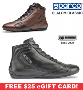 Racing Shoes - Sparco Racing Shoes - Sparco Slalom Classic Shoe - $238.99