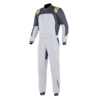 Safety Equipment - Alpinestars - Alpinestars GP Pro Comp FIA Suit - Silver Blue/Asphalt/Lime - Size 46