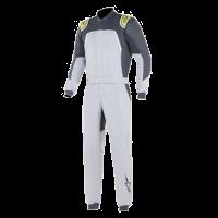 SUMMER SIZZLER SALE! - Racing Suit Sale - Alpinestars - Alpinestars GP Pro Comp FIA Suit - Silver Blue/Asphalt/Lime - Size 56