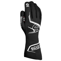 Safety Equipment - Sparco - Sparco Arrow Glove - Black/White - Size 8