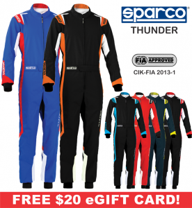 Karting Gear - Karting Suits - Sparco Thunder Karting Suit - $218.99