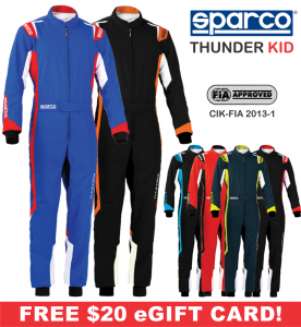 Karting Gear - Karting Suits - Sparco Thunder Kid Karting Suit -$198.99